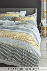 Image Chevron Duvet Pack Mini Geo Stripe Duvet Cover And Pillowcase Set Nextcouk Yellow Bedding Yellow Bedding Sets Next Official Site