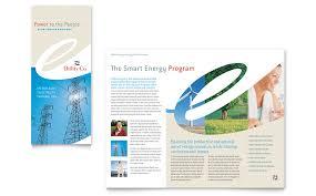 Tri Fold Samples Utility Energy Company Tri Fold Brochure Template Word