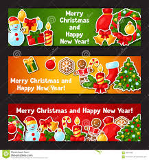 merry christmas and happy new year banner. Exellent Happy Download Merry Christmas And Happy New Year Sticker Banners Stock Vector   Illustration Of Illustration Inside Banner A
