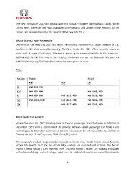 new car dealership press releaseNew Honda City 2017 Launch  Press Release