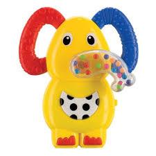 Музыкальная <b>погремушка</b>-<b>прорезыватель Happy Baby</b> Слоненок ...