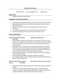 Medical Assistant Duties For Resume Lovely 40 Best Medical Best Medical Assistant Summary For Resume