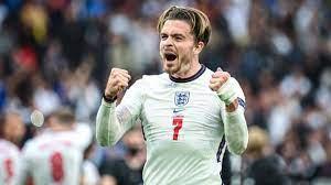 Aston Villa's Jack Grealish approaches ...