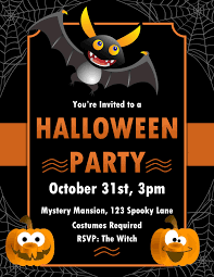 Word Halloween Templates Microsoft Word Halloween Invitation Template