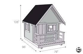 diy playhouse plans dimensions