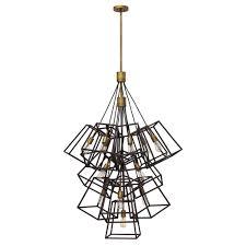 fulton large foyer chandelier bronze