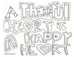 Thankful Coloring Pages Color Bros