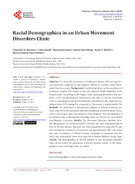 Pdf Racial Demographics In An Urban Movement Disorders Clinic