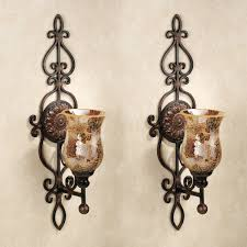 leyanna mosaic aged brown wall sconce pair wall sconces