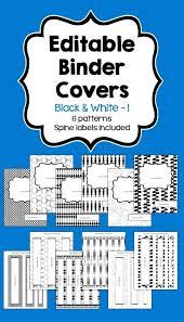 Printable Black And White Math Binder Cover Printable