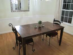 Refinishing A Kitchen Table Colossal Diy Failor Rustic Dining Room Table Makeover