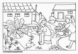 Farm Scenery Drawings Gardening Coloring Pages For Kids Rochelle