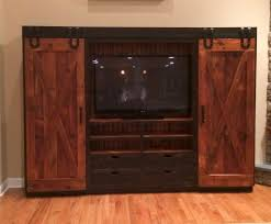 rustic barn cabinet doors. Reclaimed Barn Wood Entertainment Cabinet With Sliding Doors - Www.furniturefromthebarn.com Rustic