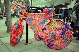Image result for yarn bombed bike