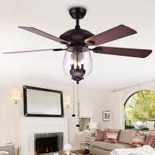 warehouse of tiffany tibwald wood gl 52 inch 5 blade lighted ceiling fan