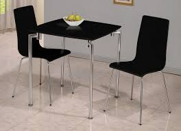 furniture contemporary black small dining table and black chairs for 2 small round dining