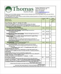 Service Contract Template Free Contract Template Lawn Maintenance Agreement Template Myexampleinc