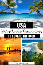 warm places to visit in december in usa