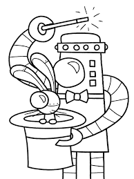 Small Picture Coloring Pages Draw Robots Es Coloring Pages