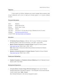 Computer Science Resume Objective Objective For Resume In Science Alejandro Barrera S Resume Objective 1