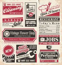 Full Page Newspaper Ad Template Retro Newspaper Ads Design Template Collection Of Vintage