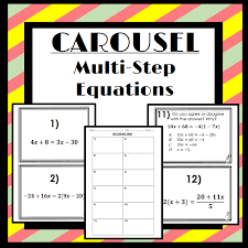 carousel activity solving multi step equations great way to incorporate movement collaborative
