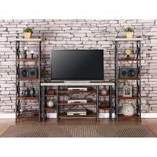 Legends Furniture Steampunk Collection Industrial Entertainment Center -  Item Number: ZSPK-1765+2x3000