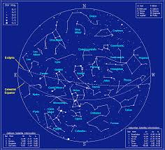 Constellation Sky Chart February Constellations With Star Chart