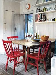simple wood dining room chairs. painted chairs for table - swedish inspiration simple wood dining room o