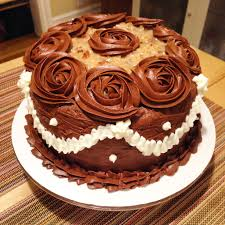 Decorated German Chocolate Cake Made A Dark German Chocolate Cake For Friends Birthday Imgur