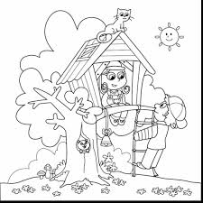 extraordinary tree house coloring pages with free summer coloring ...