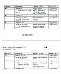 Example Project Schedule Excel Software Development Template