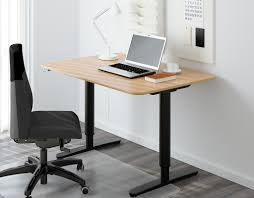 Fine Adjustable Height Desk Ikea Oak Standing Throughout Decorating Ideas