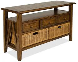 sofa table with storage. Fine Table 3 Drawer Console Table With Storage Basketsriverside Furniture In  Sofa Drawers Throughout V