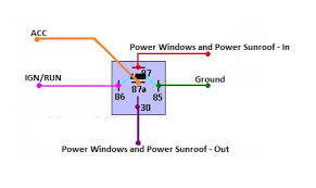 main power windows wire? ceg forums how to wire a 5 pin power window switch at Power Window Relay Wiring Diagram