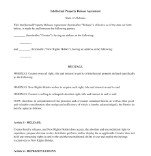 relinquish rights to property form intellectual property release form free template