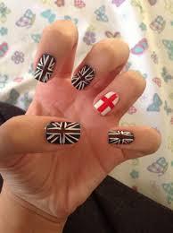 England Flag Nail Designs England Nails Love Them Nails Nail Art For Girls