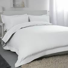 super king exclusive 400 tc egyptian cotton oxford duvet cover in solid white thumbnail 1