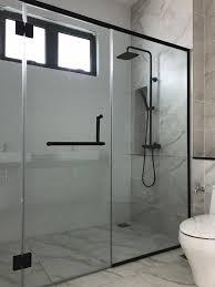 reh100sqalu frameless shower screen
