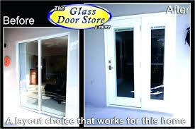 sliding glass door frame replacement replacing shower doors only french replaces small to patio installation of