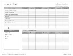chore chart template for teenagers daily chore chart template fitted portrayal printable charts for