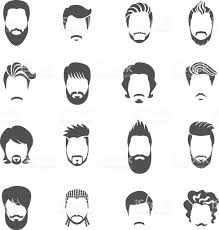 Computerized Hair Style set of black icons hairstyle man stock vector art 582276366 istock 1020 by wearticles.com