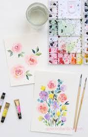 easy watercolor rose 3 ways best