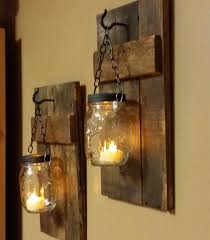 magnificent mason jar wall sconce rustic candle holders home decor rustic candles sconces