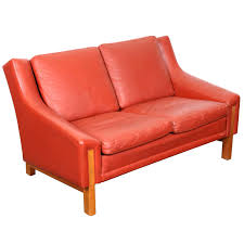 red leather loveseat mid century modern danish red leather for red leather reclining loveseat with
