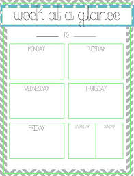 Week at a glance - Printable | Office Ideas | Pinterest ...