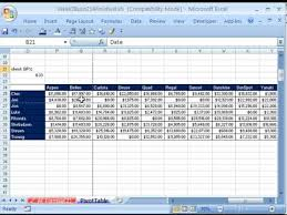 Sample Data For Pivot Table Highline Excel Class 20 Pivot Tables 20 Examples Youtube
