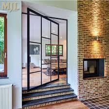 modern design aluminium tempered glass pivot doors
