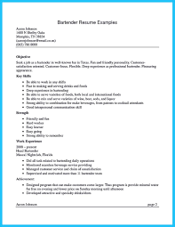 Easy Bartender Resume Cover Letter On Bartender Resume Sample
