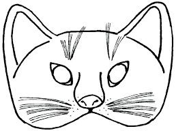 Cat Mask Coloring Page Pages Kids Print Color Craft Masks To Pj